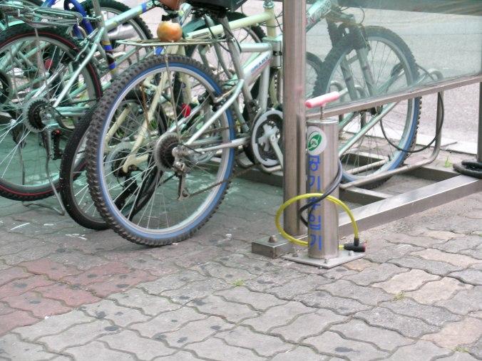 Public Bike Parking in Seoul, South Korea