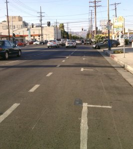 The Northern End of the Lower Reseda Bike Lanes