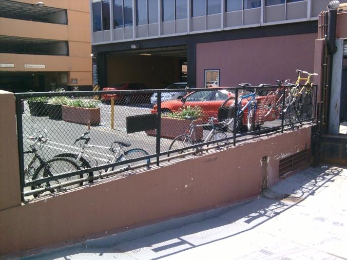 the improvisation dance that is bike parking
