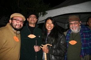 Left to right: George Villanueva, Roque Bucton, Michelle Wong, David Kahn
