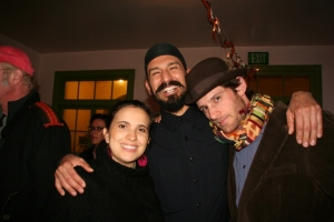 Eco-Villagers Ana Paula Noquez Mercado, Jimmy Lizama (ctr) and Eric Roman