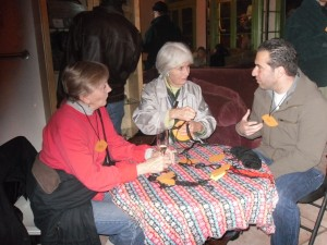 Eco-Home Network Founder Julia Russell, now retired, chats with new ecohome  creator Avo Babian and former EHN board member Mary Proteau