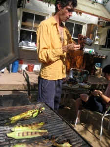 somerset grilling 1st corn from garden