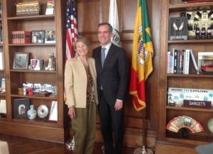 Mayor Garcetti and Lois