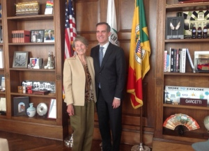 Mayor Garcetti and Lois